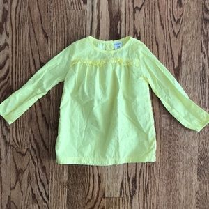 Carter's 24 Months Yellow Dot Long Sleeve Top